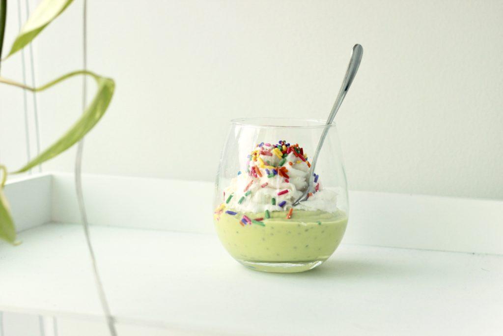 Recipe: St. Paddy's Green Avocado Chia Mousse