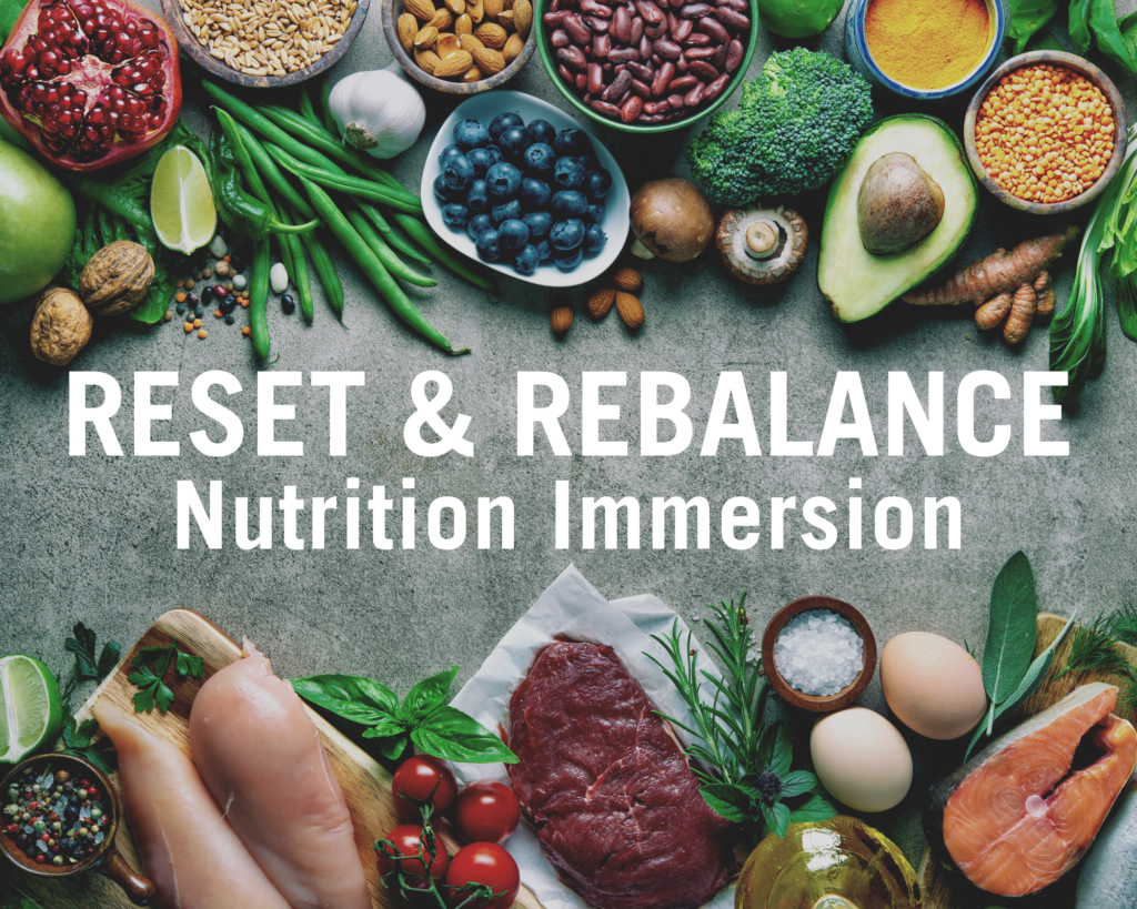 reset rebalance nutrition immersion